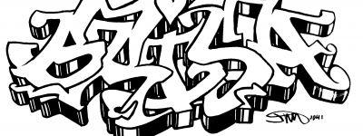 The Name Kenzie In Graffiti