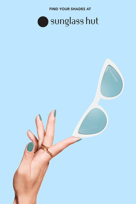Revel in some retro flair with white cat-eyes and blue lenses. Get the trendy sunglasses from Gigi Hadid's collection for Vogue Eyewear to add the perfect pop of style to your look. Grab these fun frames from Sunglass Hut today.
