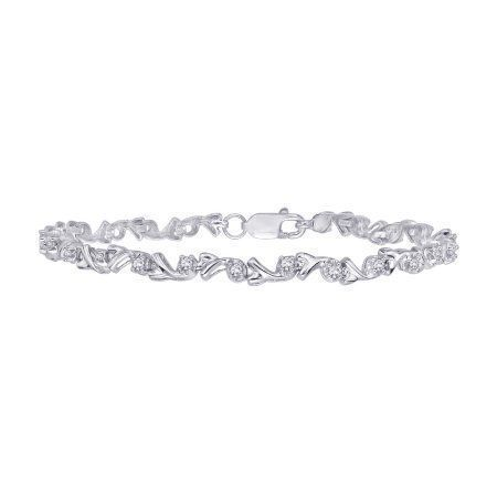 Diamond Tennis Bracelet In 10k White Gold 1 2 Cttw Diamondbracelets Diamondtennisbracelets Diamondtennisbrcelets Sparkly Bracelets