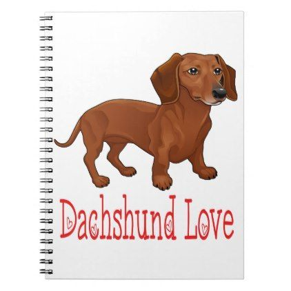 Dachshund Cartoon Puppy Dog Love Notebook Dog Puppy Dogs Doggy