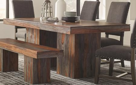 Binghamton Collection 107481 86 Dining Table With High Density