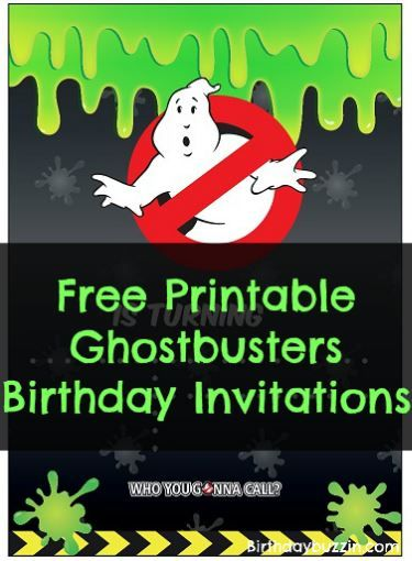 photograph regarding Ghostbusters Printable called No cost Printable Ghostbusters birthday Invites Kaydens