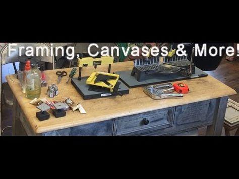Framing Canvases More In The Artists Studio Artist Studio Canvas Studio
