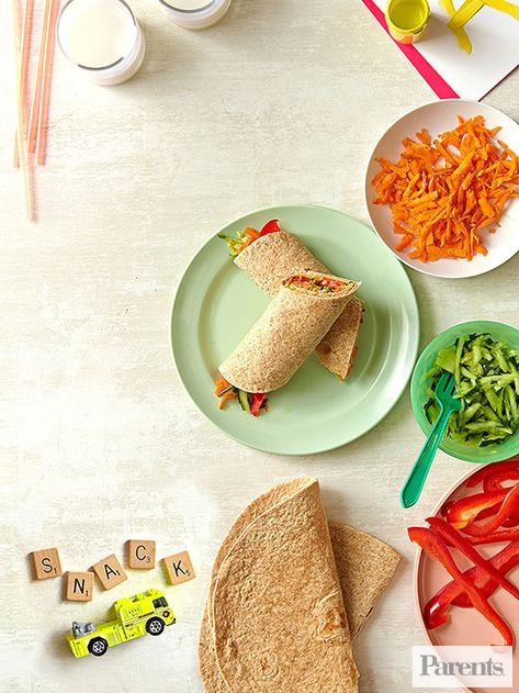 Vegetables go down easily when they're stuffed in this delicious wrap #sandwich.