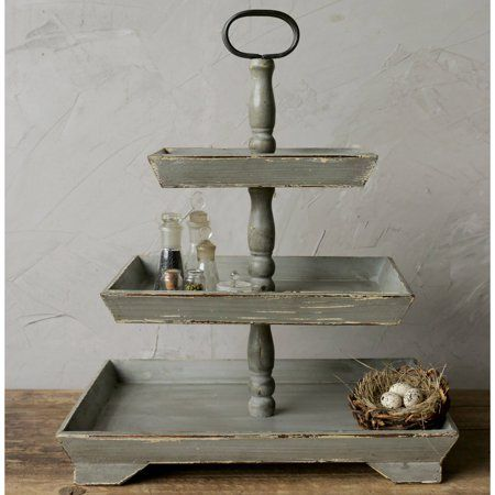 Home Wooden Tray Tiered Tray Decor Tiered Stand