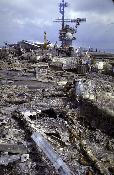 On This Day: Fire on the Flight Deck!