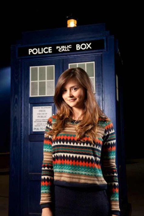 Jenna-Louise Coleman nude photos with clothes on top