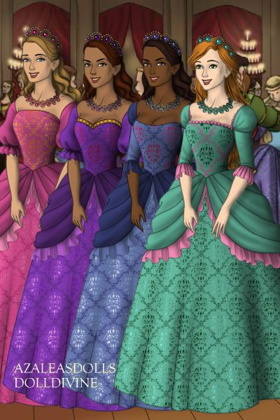 Corinne Viveca and Renee and Aramina from Barbie and The Three