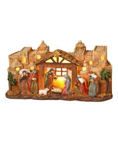 Bethlehem Light Up Nativity Decor Zulily Zulilyfinds Christmas Nativity Scene Bethlehem Lights Indoor Christmas Decorations