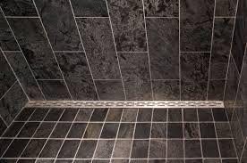 Roll In Shower Using Ceramic Tile French Drain Bathroom Drain Ceramic Tiles Shower