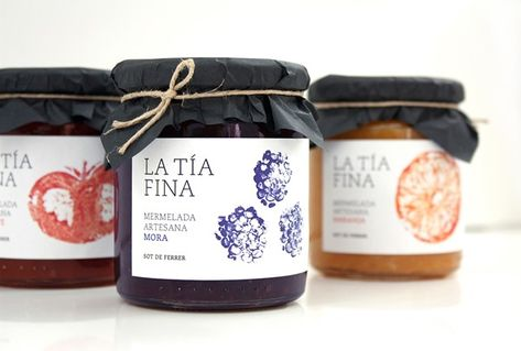Fruit Labels Made with Real Fruit for La Tia Fina Jam - Ateriet