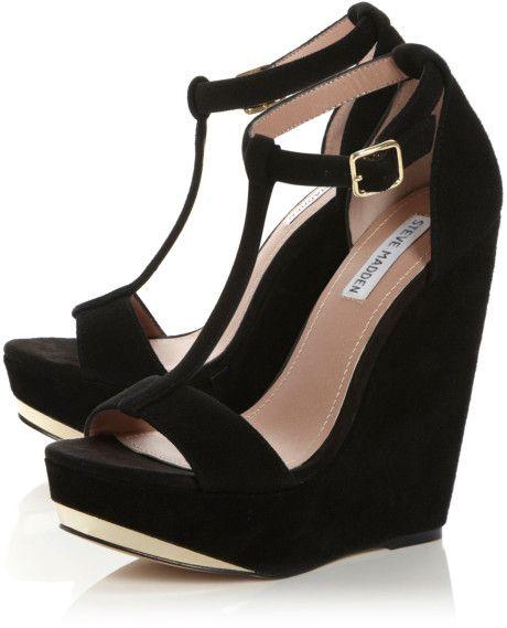 b4a51cdc1a1 Steve Madden Women S Theea Ghillie Platform Wedge Sandals - Lyst ...