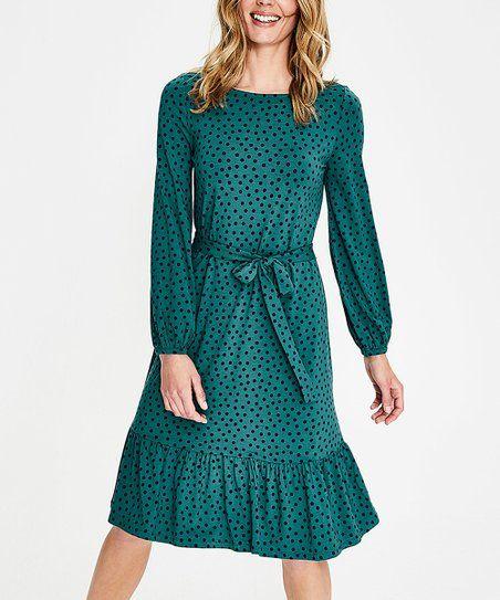 Boden Drake Navy Scattered Spot Holly Dress Women Zulily Jersey Dress Womens Dresses Evening Dresses Uk