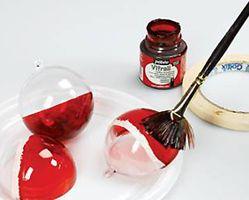 Boule De Noel à Peindre Boules plastique noël et peinture sur verre, loisirs créatifs