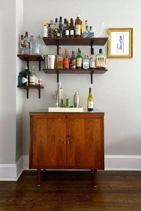segunda feira inspirando decorao do bar em casa liquor bottles bar and shelves