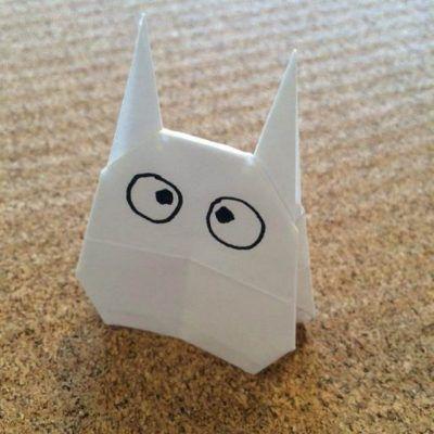 折り紙の小トトロの折り方 大中小のトトロを折り紙で イクメンパパの子育て広場 トトロ 折り紙 折り紙 かわいい 折り紙