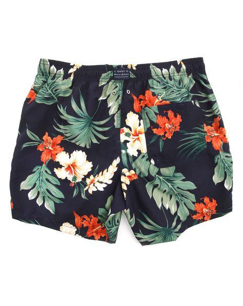 Gant Floral Swim Shorts Classic Fit Ba/ñador para Hombre