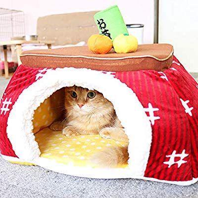 Amazon 犬 猫 用 ペットパラダイス なりきりペッツ こたつ 2way ハウス 赤 小 40cm 156 67803 ペットパラダイス ドーム型ベッド 通販 こたつ ペット ペッツ