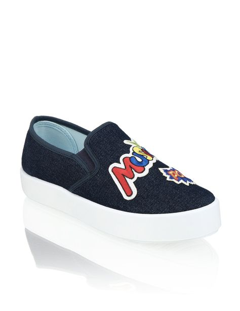 OMG! Textil Sneaker | blau | | HUMANIC • patches