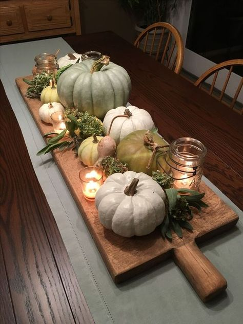 42 Farmhouse Fall Porch « knoc knock - Fall decor ideas for the porch - Decoration Bedroom, Decoration Table, Kitchen Decorations, Wedding Decorations, Decor Room, Harvest Table Decorations, Farm Table Decor, Accent Table Decor, Pumpkin Decorations