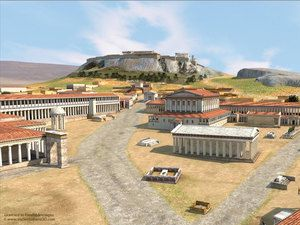 This 3d Reconstruction Of Athens Around 400bc By Dimitris