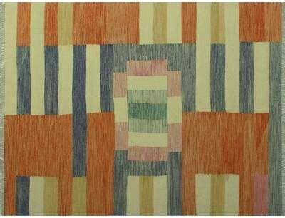 Ames Striped Handmade Kilim Wool Ivory Area Rug Latitude Run Sponsored Sponsored Kilim Wool Handmade