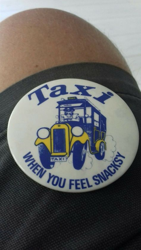 Taxi chocolate biscuit vintage badge