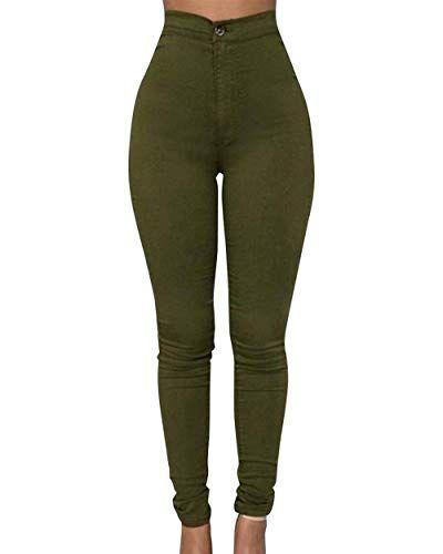 Femme Crayon Stretch Skinny Jeans Pantalon taille haute Casual Leggings Pantalon