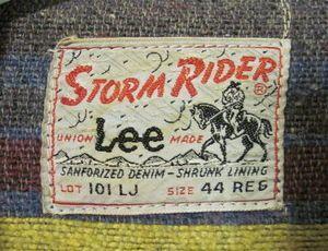 Lee Storm Riders Vintage Label by wearitsatvintage, via Flickr