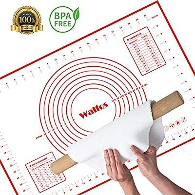 Walfos Non Slip Silicone Pastry Mat Extra Large With Measurements 24 By 16 For Silicone Baking Mat Counter Mat Kneading Dough Baked Rolls Silicone Baking
