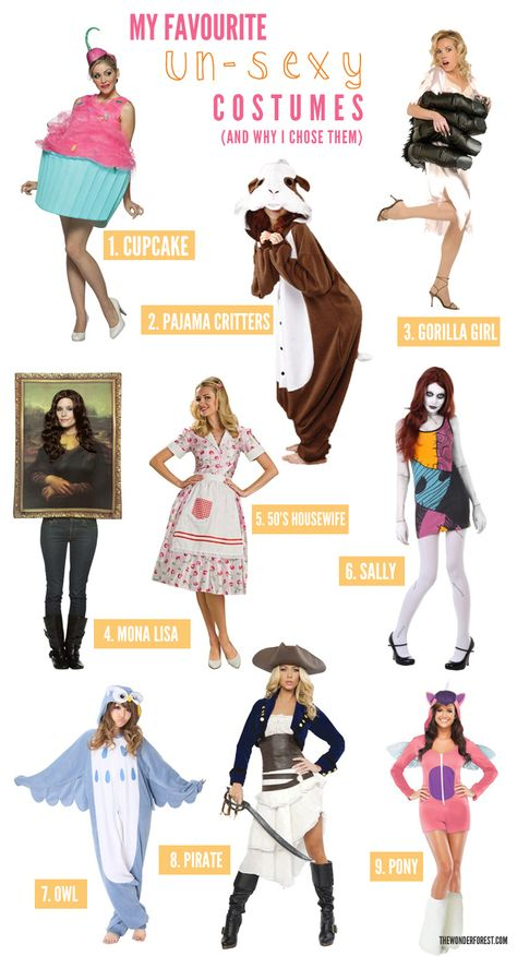 My Favourite Un-Sexy Halloween Costumes for Women - Wonder Forest