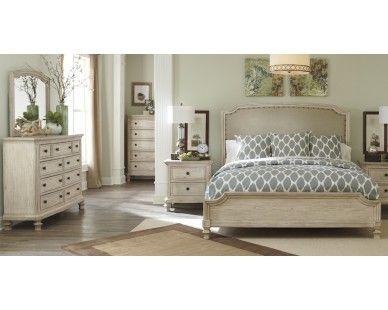 6 Piece King Bedroom   Vintage White Finish   Sam Levitz Furniture   Dream  Bedroom   Pinterest   Bedroom Vintage, Furniture And King Bedroom