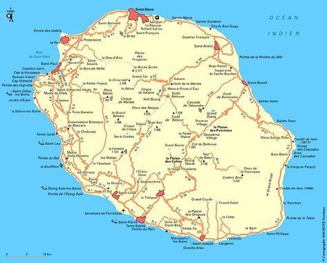 Carte Madagascar Routard.Carte Reunion Plan Reunion La Reunion Ile De La