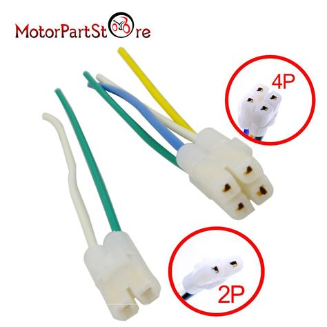 36cc12d2b22002bb564abbe133989b48 cdi cable wire harness plug for gy6 4 stroke 50cc 150cc scooter us
