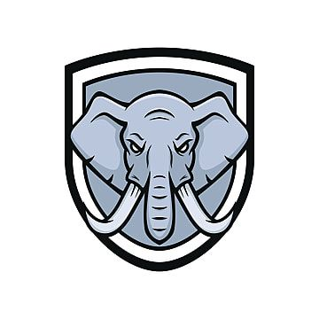 Elephant Mascot Vector Logotype Head Sport Illustration Emblem Isolated Elephant Mascot Wild Png And Vector With Transparent Background For Free Download In 2021 Elephant Sport Illustration Elephant Background