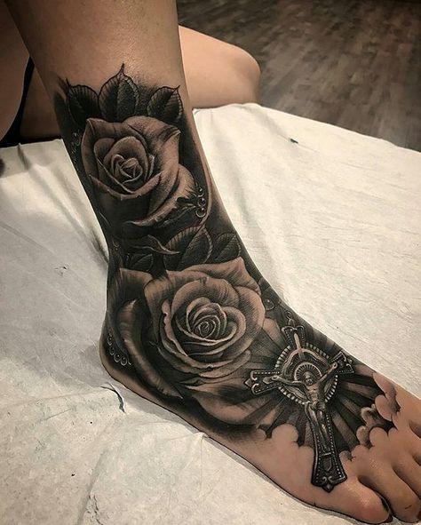 New Work By Artist Vetoe Blackandgrey Allday Inksav Worlwide Tattoos Foot Tattoos Headdress Tattoo