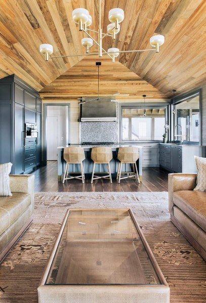 Top 60 Best Wood Ceiling Ideas Wooden Interior Designs Living Room Wood Wood Ceilings Ceiling Design