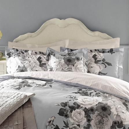 Holly Willoughby Floral Cotton Heather Blue Joslyn Pillowcase