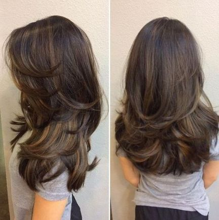 30 Trendy Hairstyles Long Layers Haircuts Highlights Long Layered Hair Medium Hair Styles Thick Hair Styles