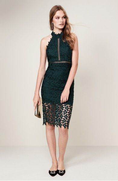 Main Image Bardot Gemma Halter Lace Sheath Dress 119