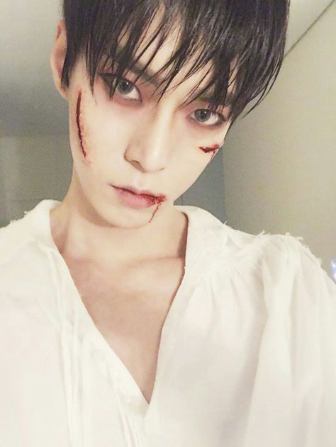 Doyoung (NCT) if i have a Helloween party this year, i'll do my make up like this😍