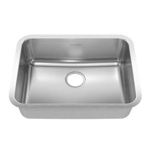 American Standard Prevoir Undermount Brushed Stainless Steel 24 75x18 75x8 Single Bowl Kitchen Sink 20sb 251900 073 At The Home Depot Sink