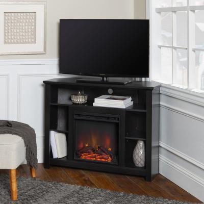 Walker Edison Furniture Company 44 Wood Corner Fireplace Tv