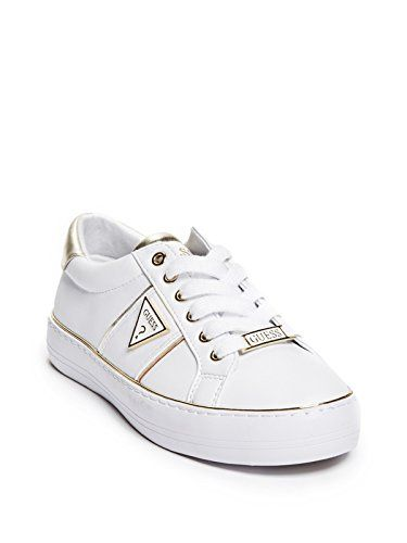 07a46721e9 $37.49. GUESS Factory Women's Gilda Logo Metallic Trim Low-Top ...