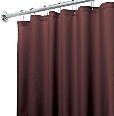 Amazon Com Diny Bath Elements Heavy Duty Magnetized Shower Curtain Liner Mildew Resistant Chocolate Brown Home Kitchen Curtains Fabric Shower Curtains Shower Liner