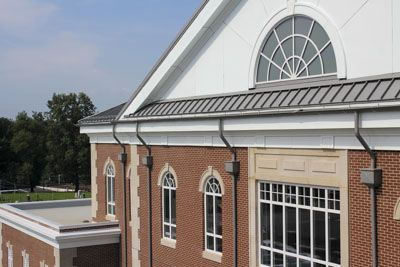 Metal Roofing And Gutters Made From United Zinc By Imetco Atop Allen County Judicial Center Roofing Architecture Roof Maintenance