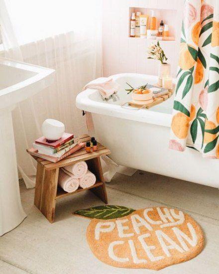 Bathroom Green Orange Peaches 70 Ideas, Peach And Grey Bathroom Set