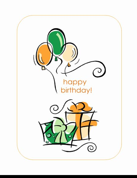 Google Docs Birthday Card Template Fresh Happy Birthday Card With Balloons Quarter Fold Happy Birthday Cards Birthday Cards Birthday Card Template