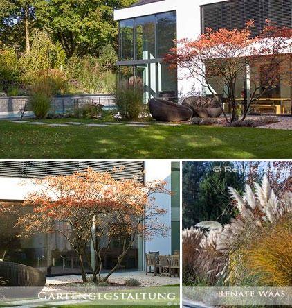 Moderner Garten Im Herbst Mit Grasern Moderner Garten Garten Design Garten
