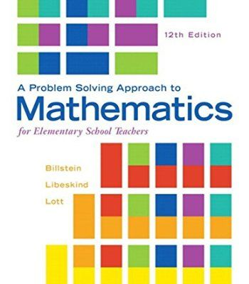 A Problem Solving Approach To Mathematics For Elementary School